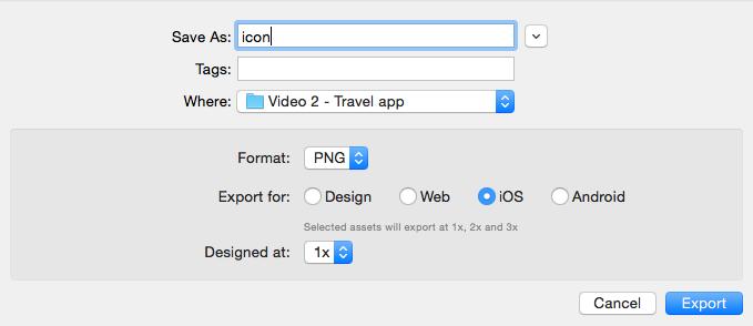 Export Adobe XD