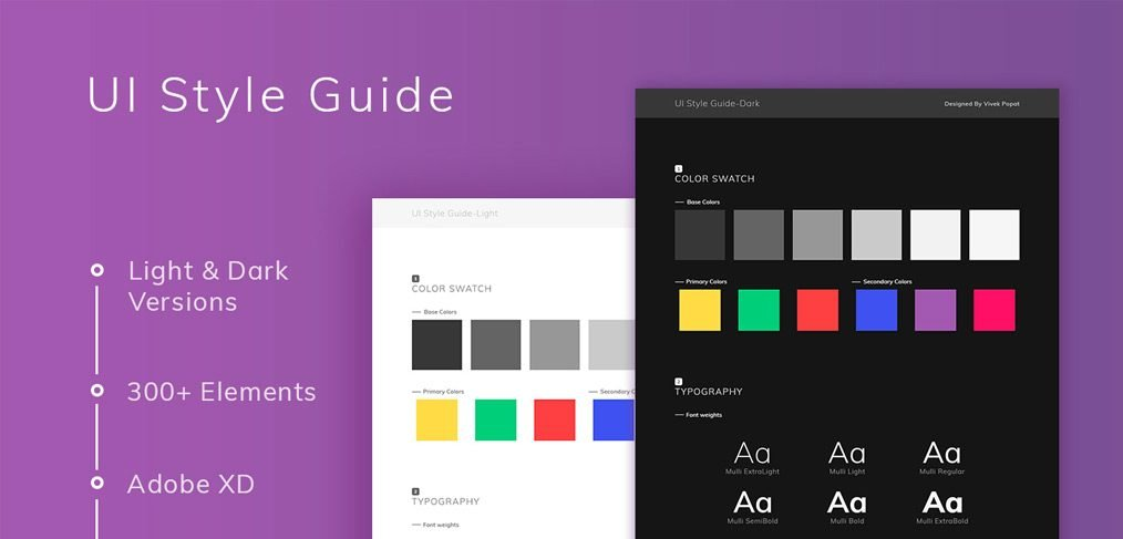 Ui style guide xd