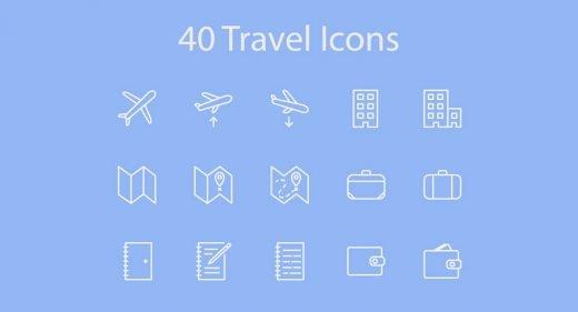 40 travel icons xd