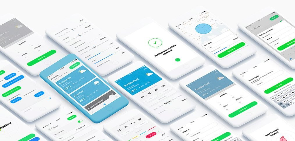 MyWeather App Free For Adobe XD