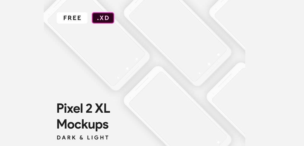 pixel 2 mockups xd