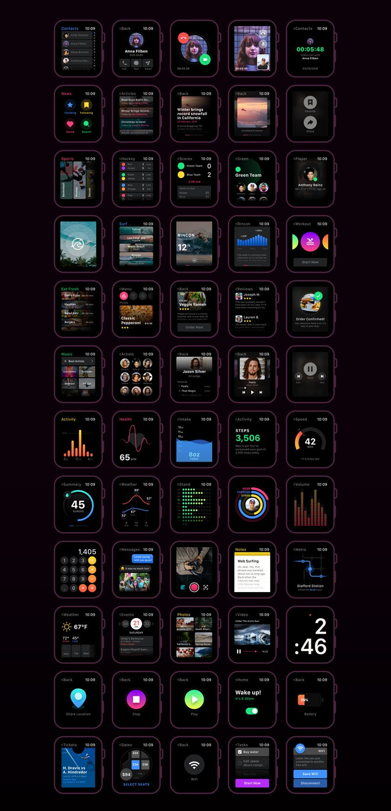 smartwatch-ui-kit-xd 2