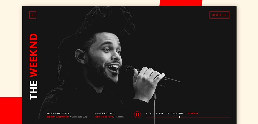 The Weeknd Adobe XD Landing Page Template