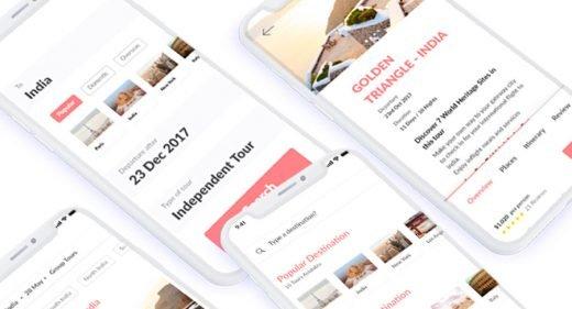 Travel App for Adobe XD