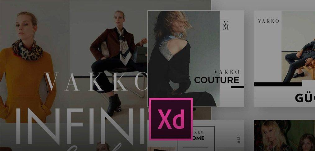 Vakko Social Media Kit forAdobe XD