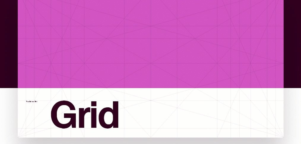 The Golden Grid Template Adobe XD