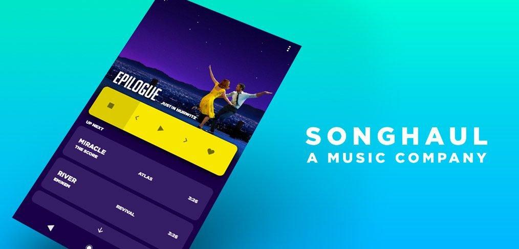 Songhaul Music App Template for Adobe XD
