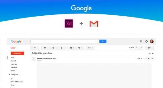 Adobe Xd Gmail UI Kit