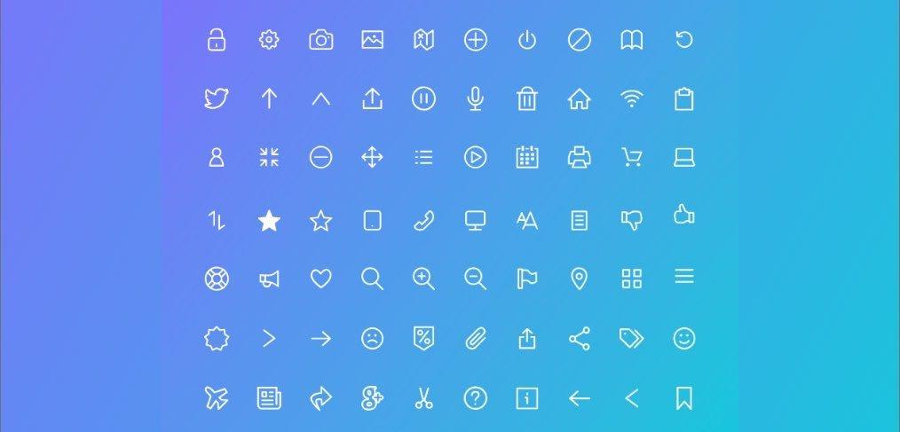 100Flat icons xd