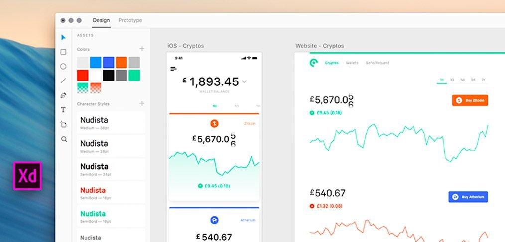 Cooin Crypto UI Kit Adobe XD