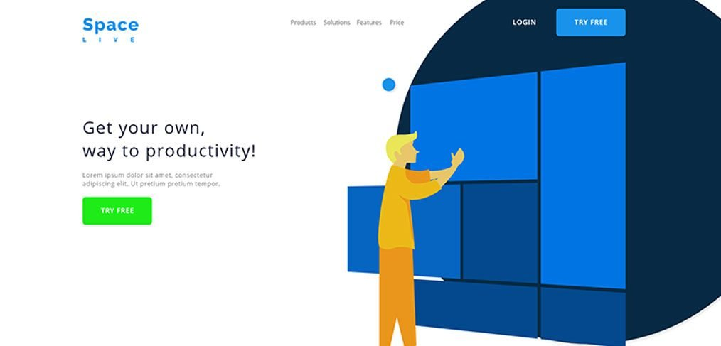 CRM landing page template