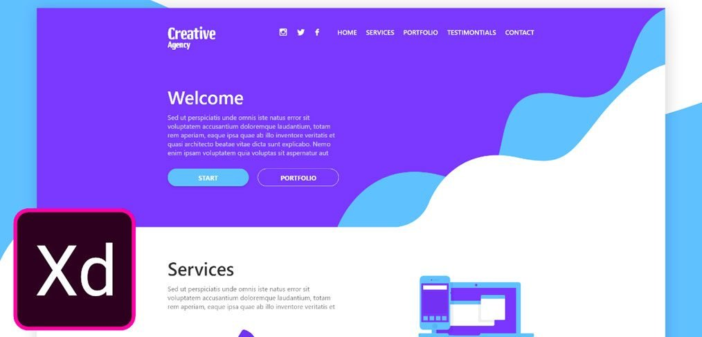 Free one page layout template