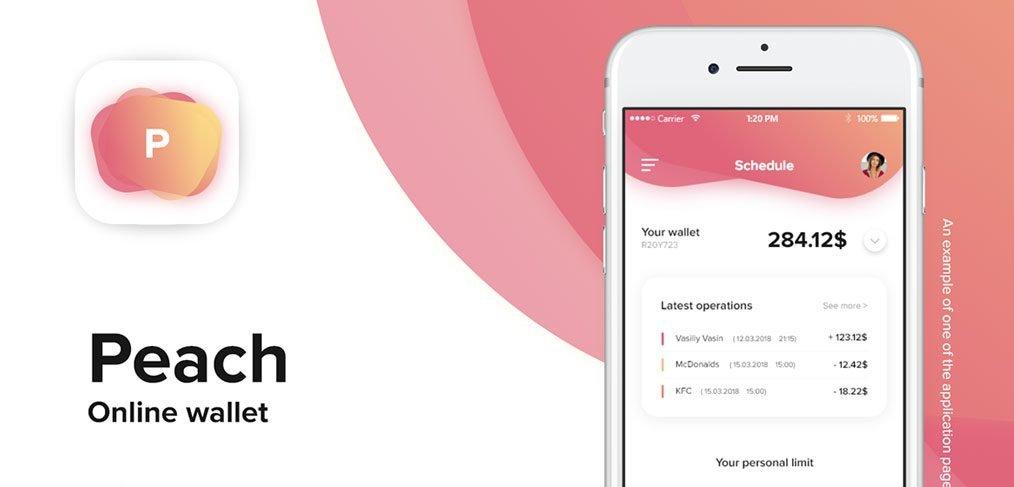 Peach Online wallet template