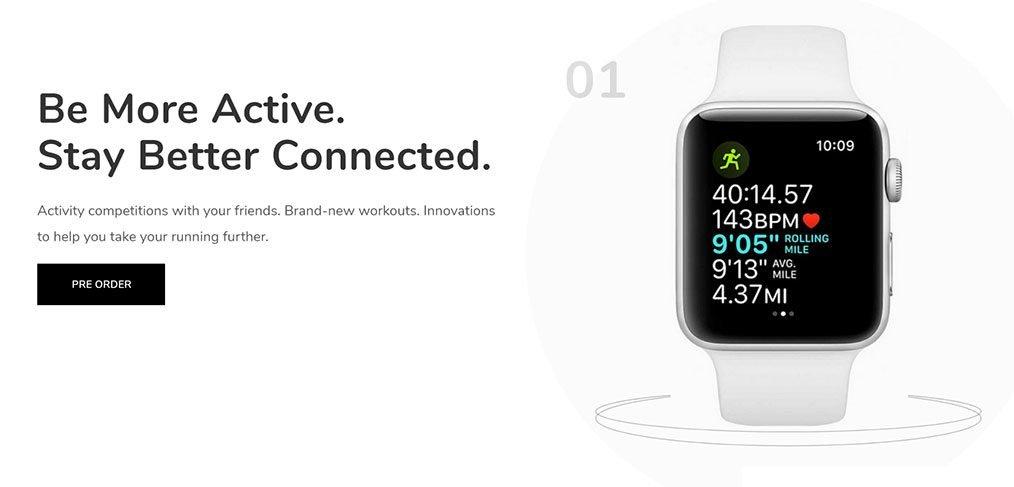 Apple Watch Website Template