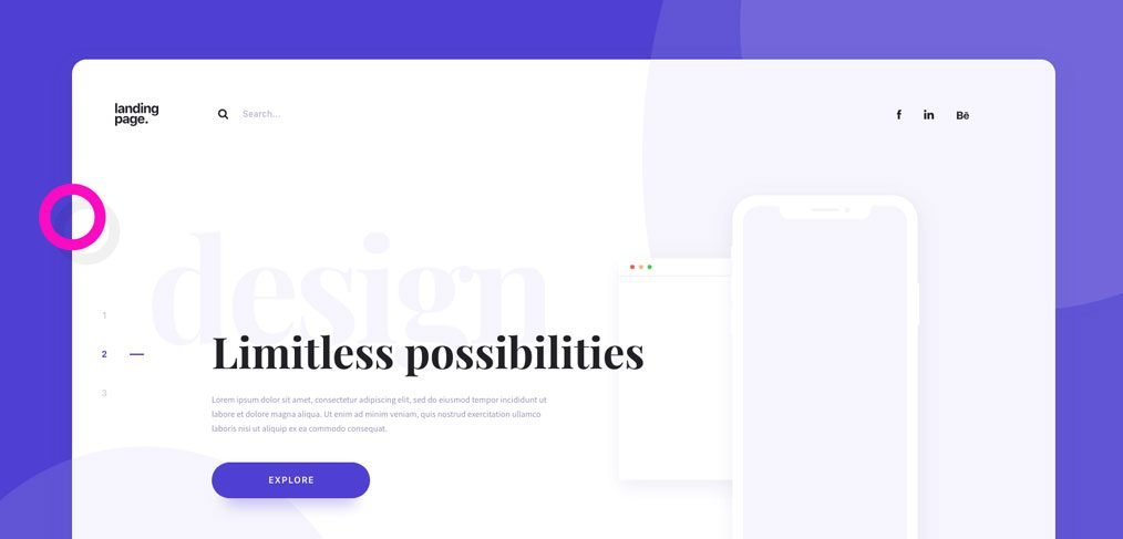 Daily UI landing page template