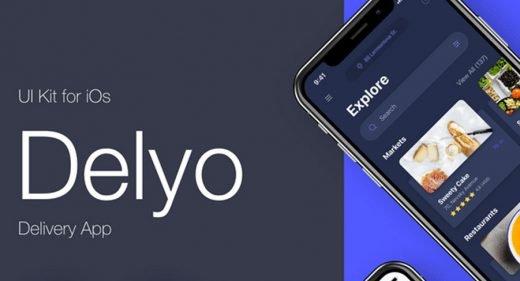 Delyo - Food delivery app UI Kit