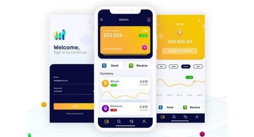 Crypto Wallets Mobile Concept