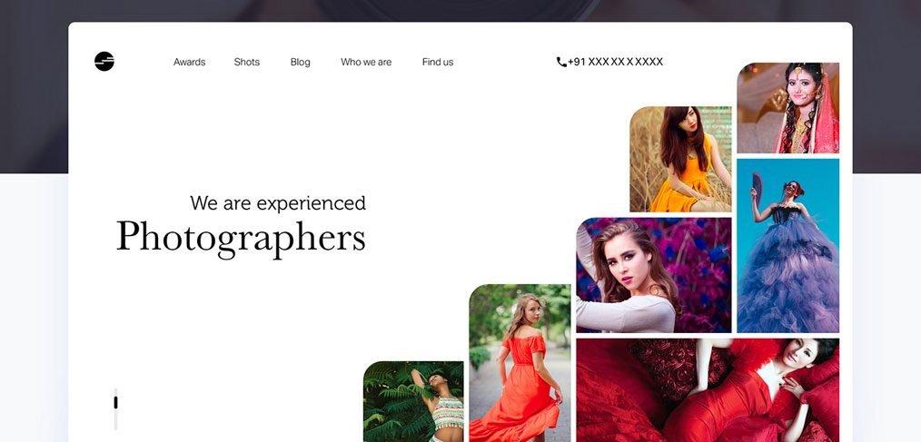 Photographer portfolio free template