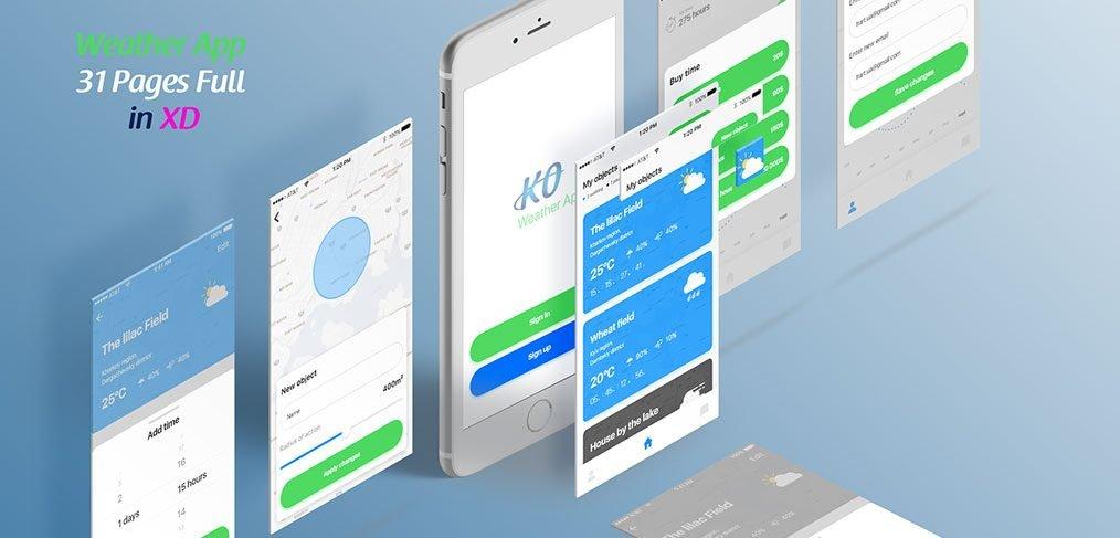KO weather app template