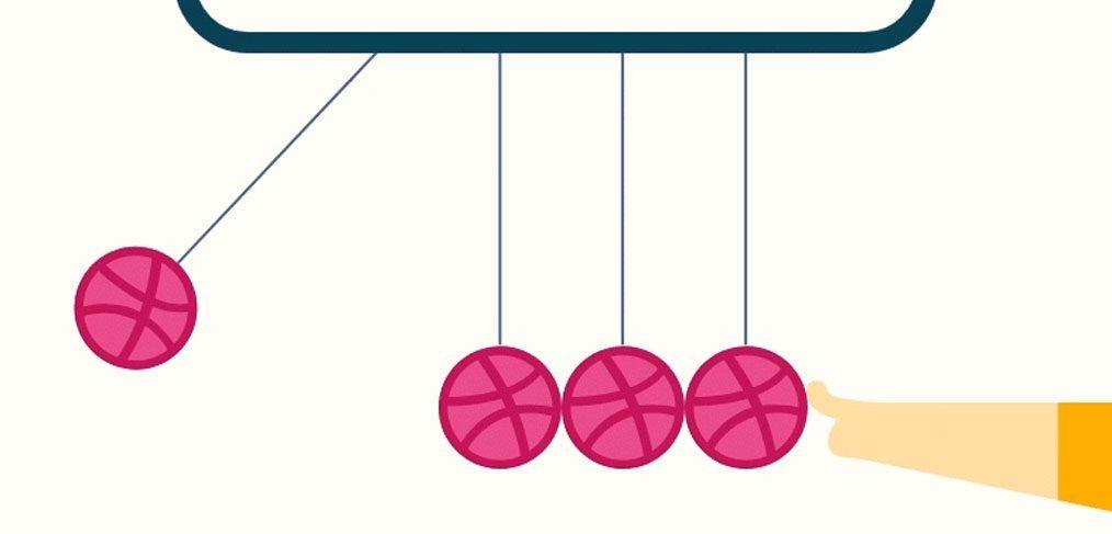 Newton's Cradle XD Animation