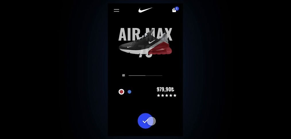 Nike Mobile Animation on Adobe XD
