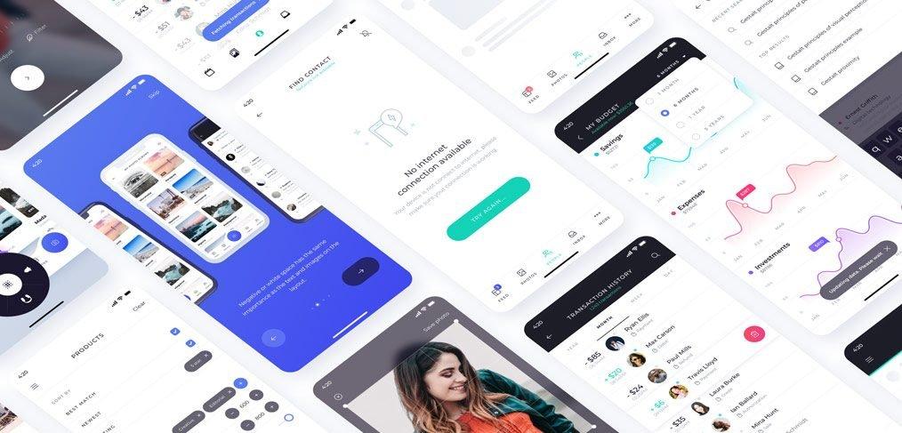 Atro mobile UI kit freebie
