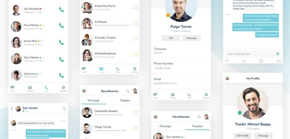 Slack mobile redesign in XD