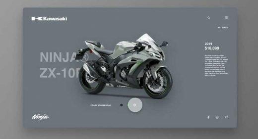 Motorbike website animation