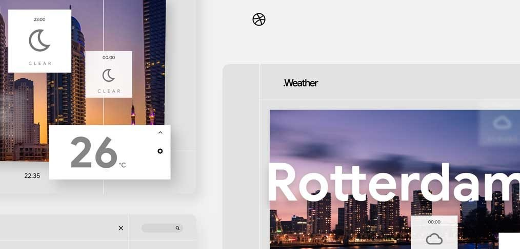 Weather screen animations