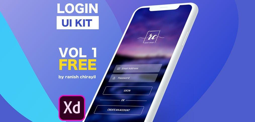 Login Vol 1 - XD free UI kit