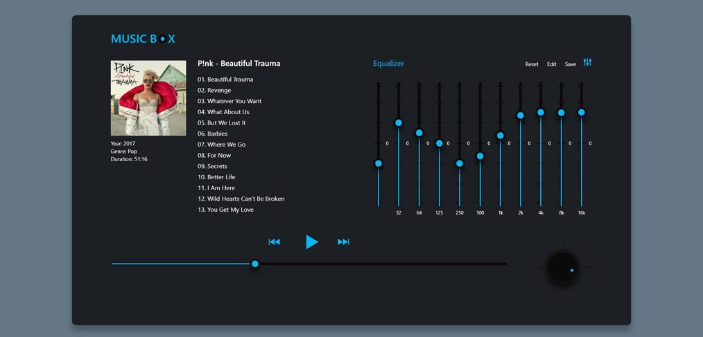 Music player XD concept