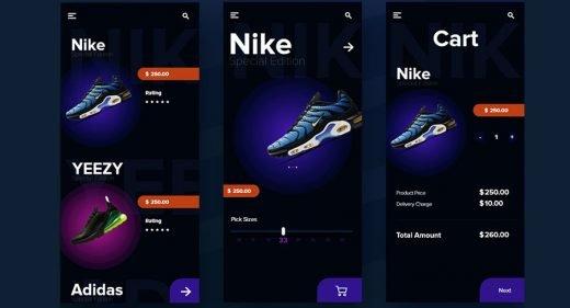 Shoes e-commerce XD concept