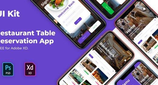 Food Reservation App Concept