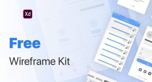 Free basic wireframing kit for XD