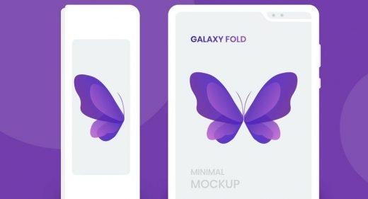 Galaxy Fold white XD mockup