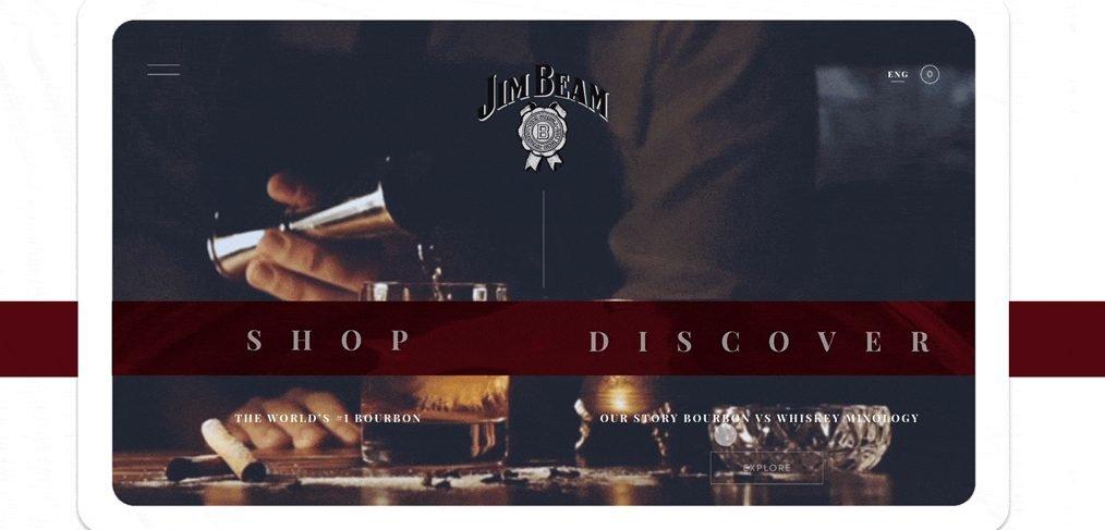 Jim Beam store XD website template