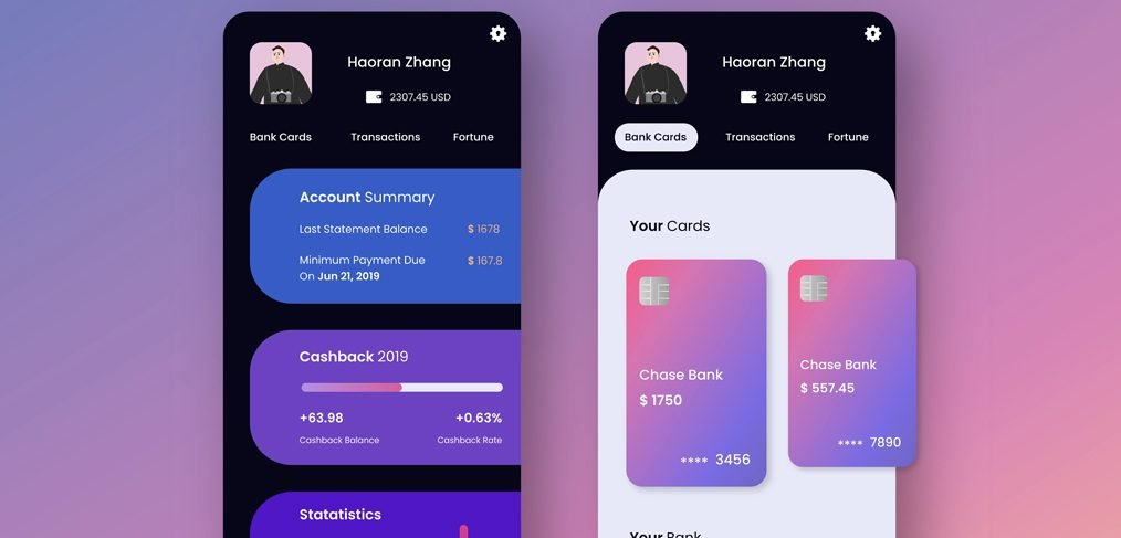 Mobile banking concept for XD