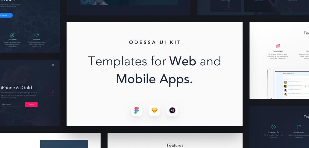 Odessa UI kit xd