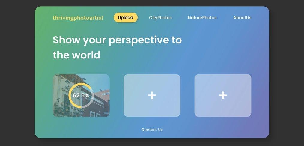 File upload UI concept