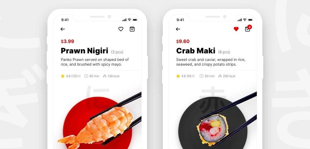 Sushi restaurant app concept for XD