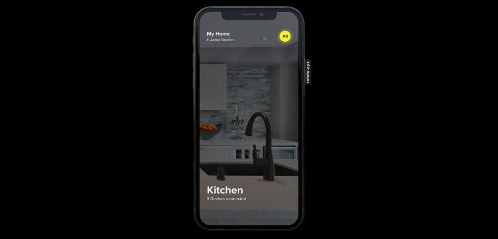 AR smart home app XD template