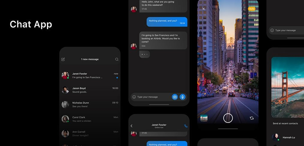 Free XD mobile chat template