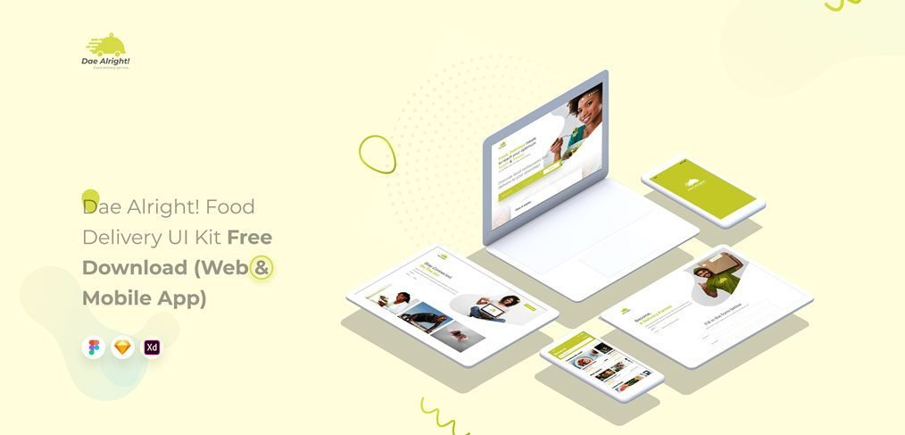 Free restaurant XD UI kit