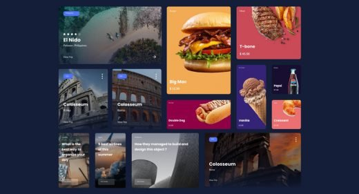 27 Free UI cards for Adobe XD