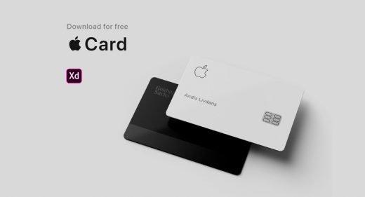 Apple Card Adobe XD mockup