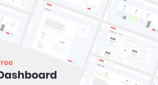 Dashboard template XD freebie