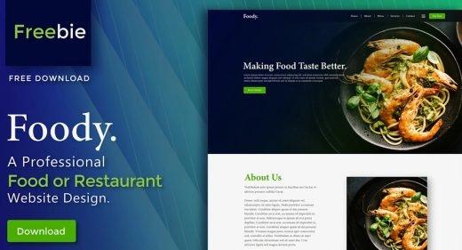 Foodie restaurant XD website template