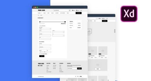 Free XD ecommerce wireframing kit