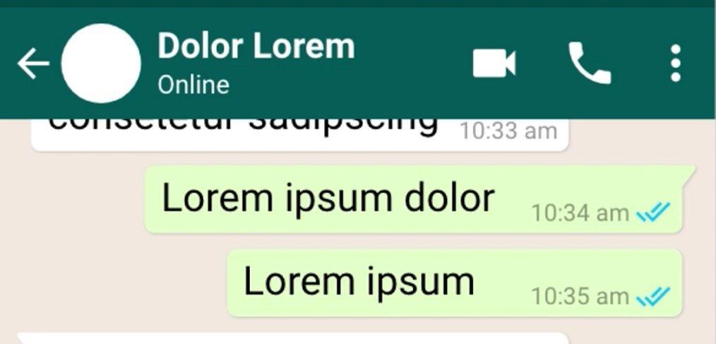 Whatsapp Chat UI Adobe XD