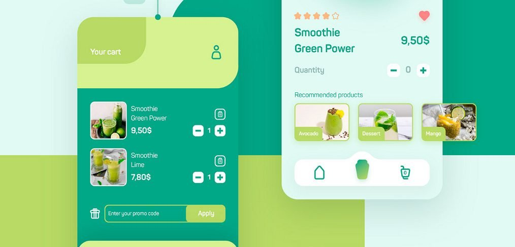 XD Smoothie mobile app template